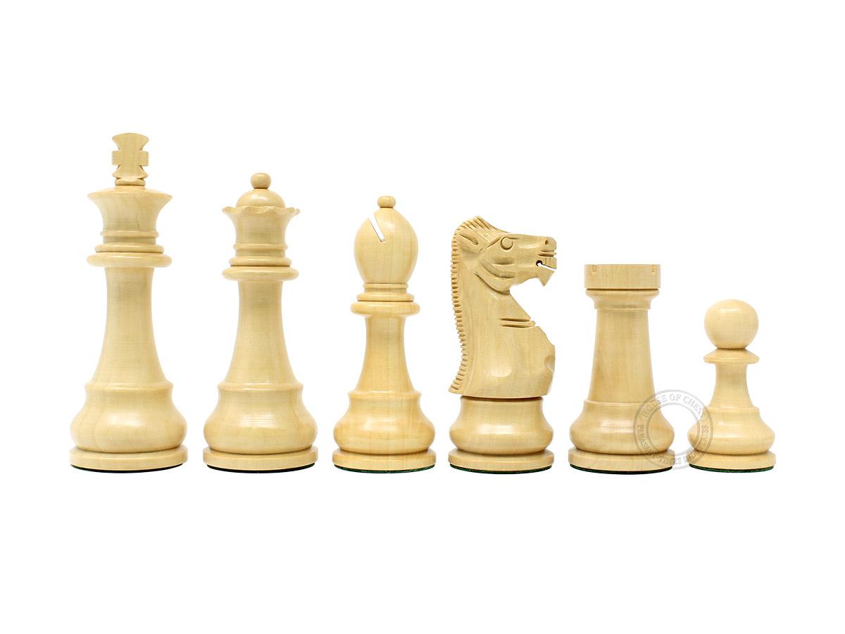 """Boxwood Chess Pieces Unique Staunton King Size 3.75"""""""