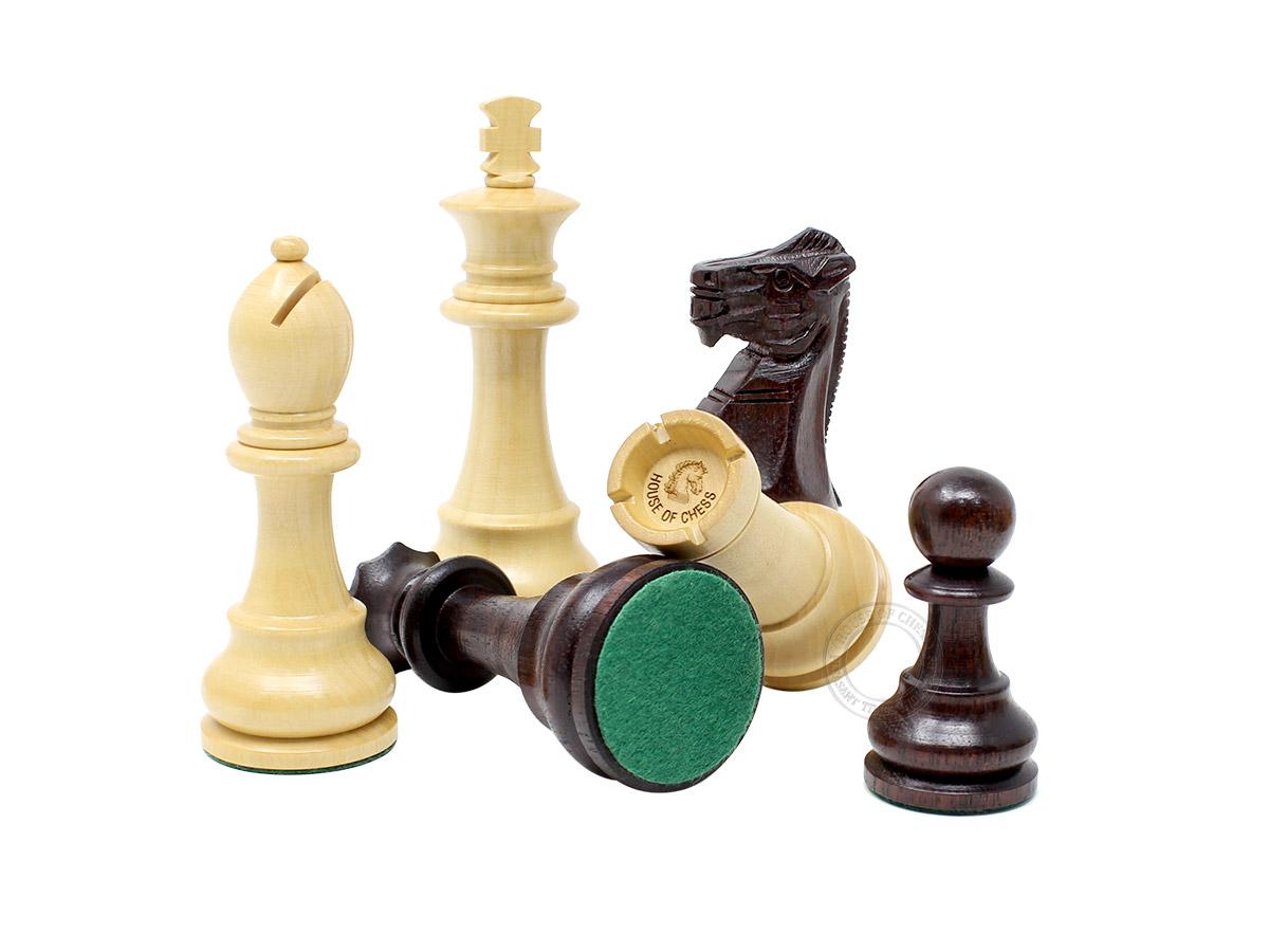 "Unique Staunton Chess Pieces King Size 3.75"""