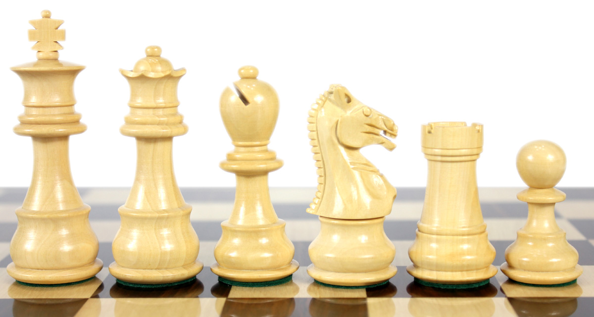Boxwood chess pieces.
