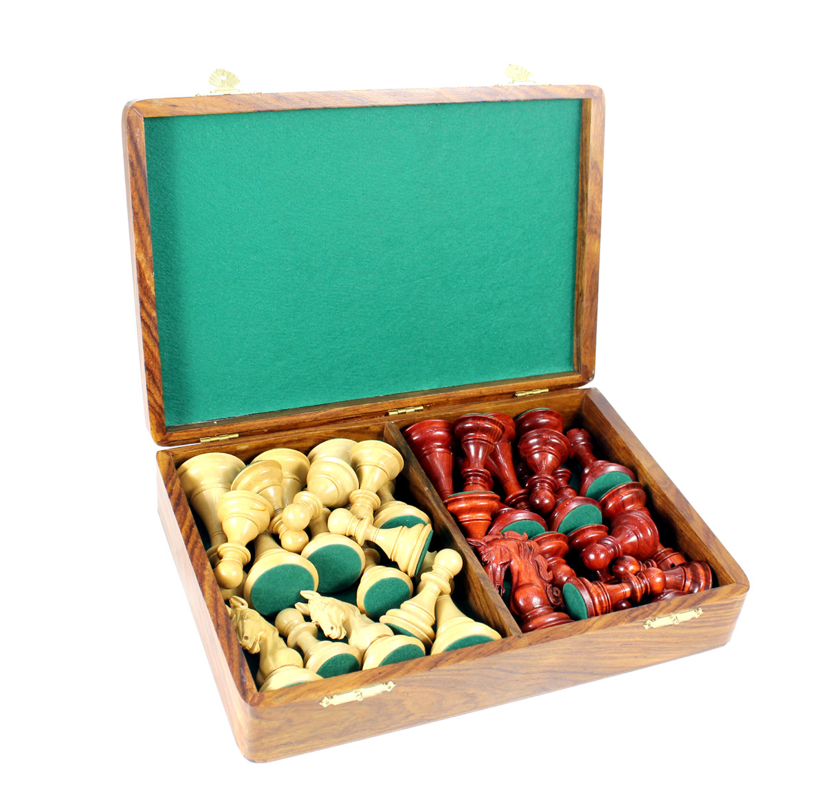 Free wooden storage box with these chess pieces.