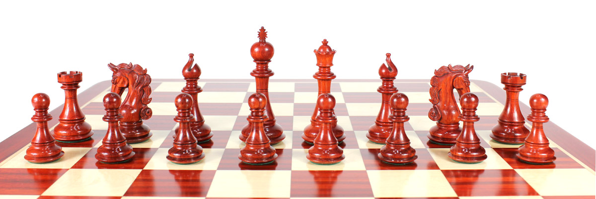 All chess pieces are triple weighted. Total weight of the chess set is 3.858 lbs (1750 grams)