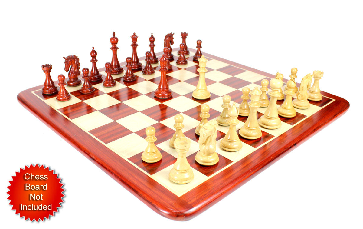 Chess Pieces placed on flat Chess board