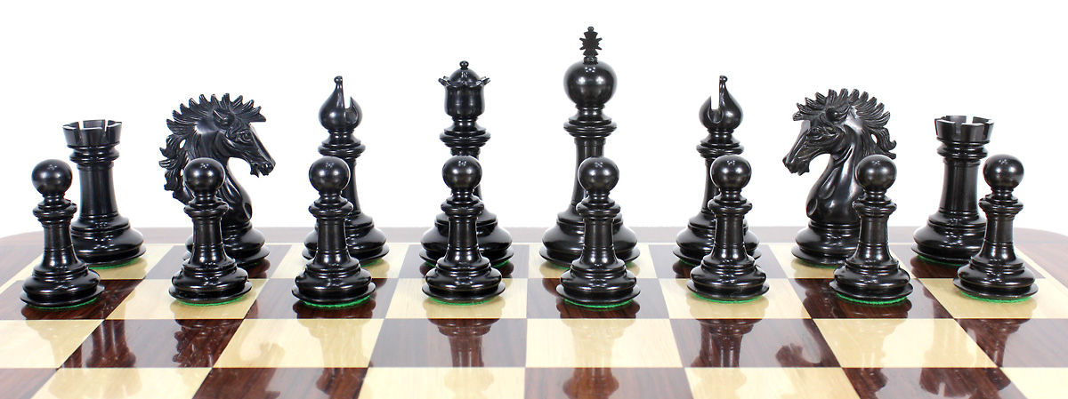 All chess pieces are triple weighted. Total weight of the chess set is 5.291 lbs (2400 grams).