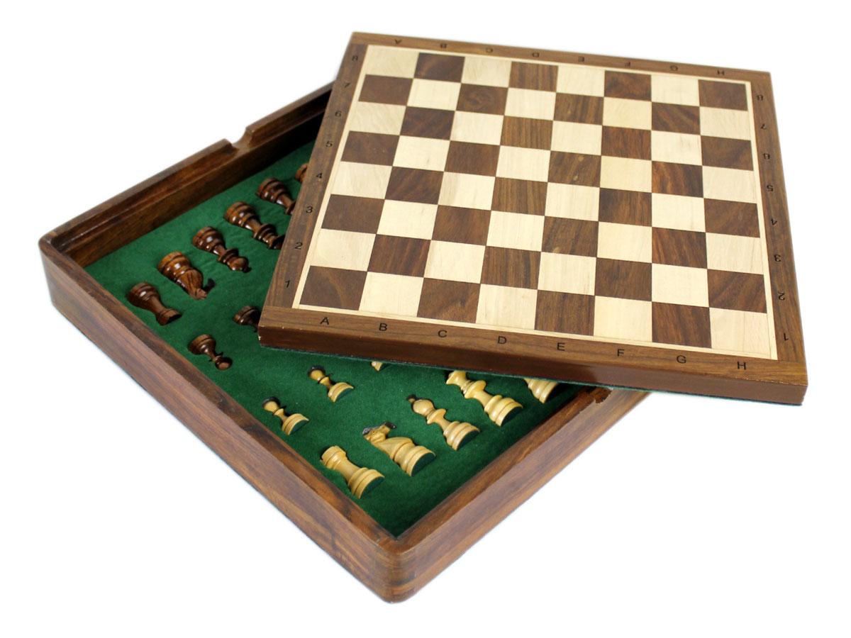 Empty flip up chess board