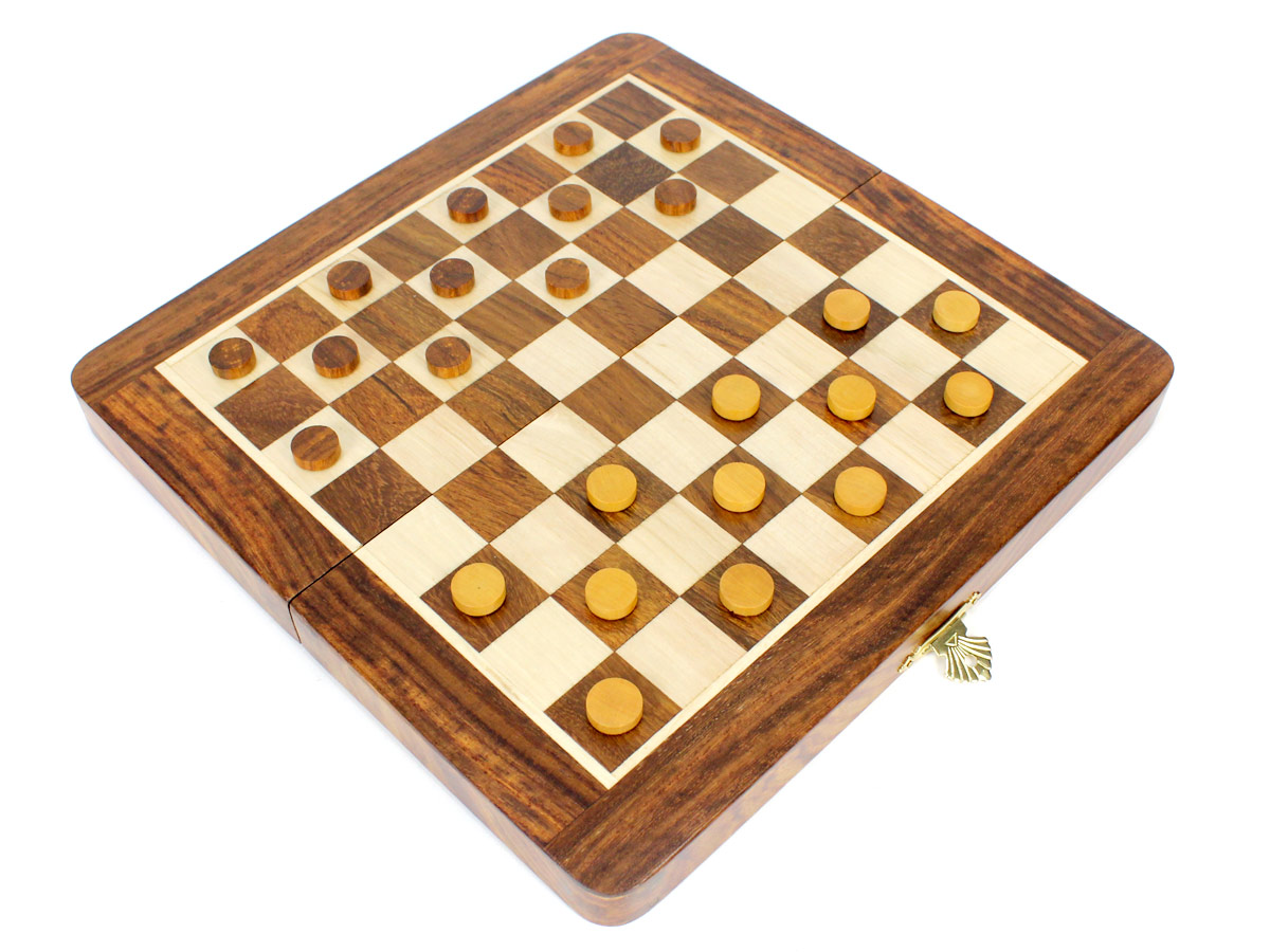 24 Checkers placed on top of board