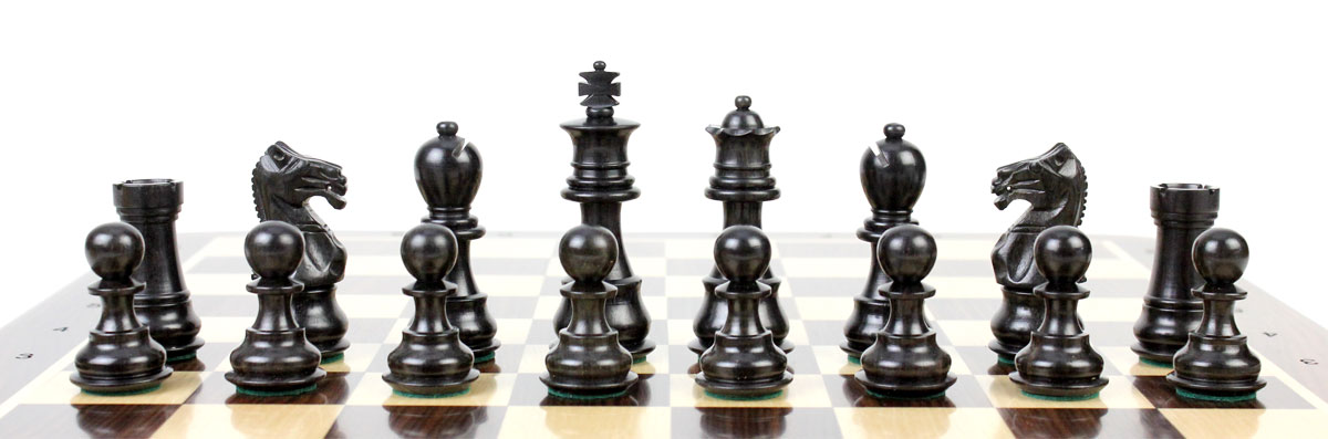 All chess pieces are triple weighted. Total weight of the chess pieces is 1.433 lbs (650 grams)