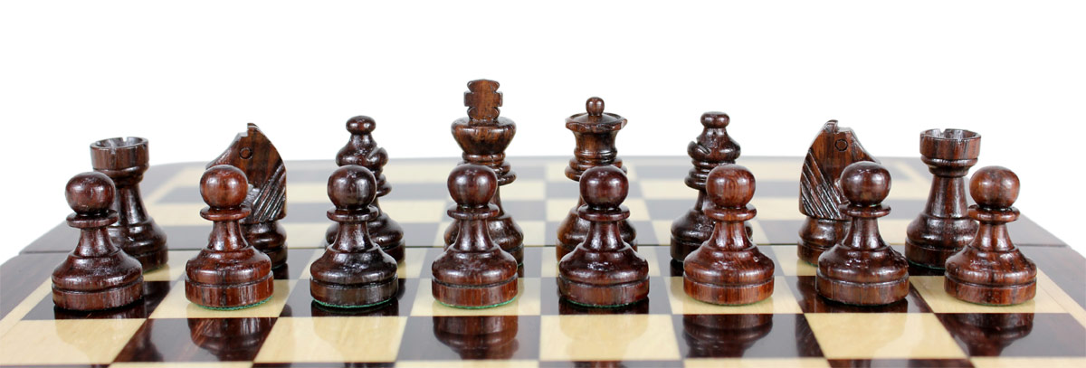 Rosewood Chess Pieces