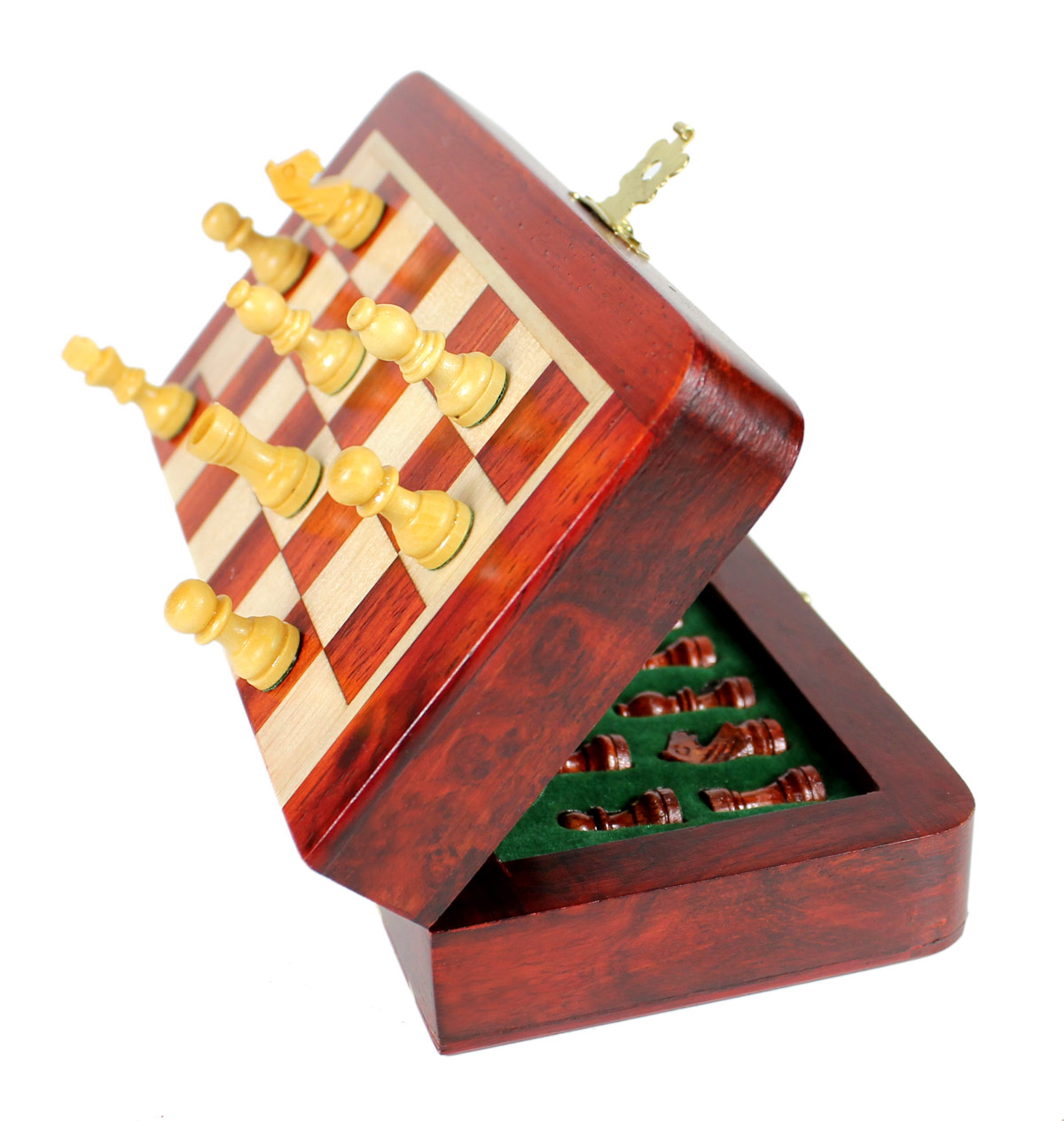 Each Chess piece is fitted with a powerful magnet at the bottom.