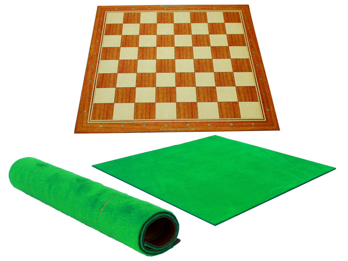 Woodtex Silk/Rayon Golden Rosewood Textured Roll Up Chess Board with super soft plush fleece back