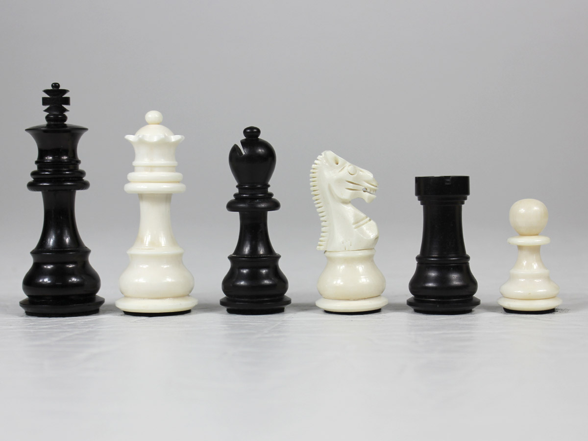 Camel Bone Hand Carved Emperor Staunton Chess Pieces King Size 3""