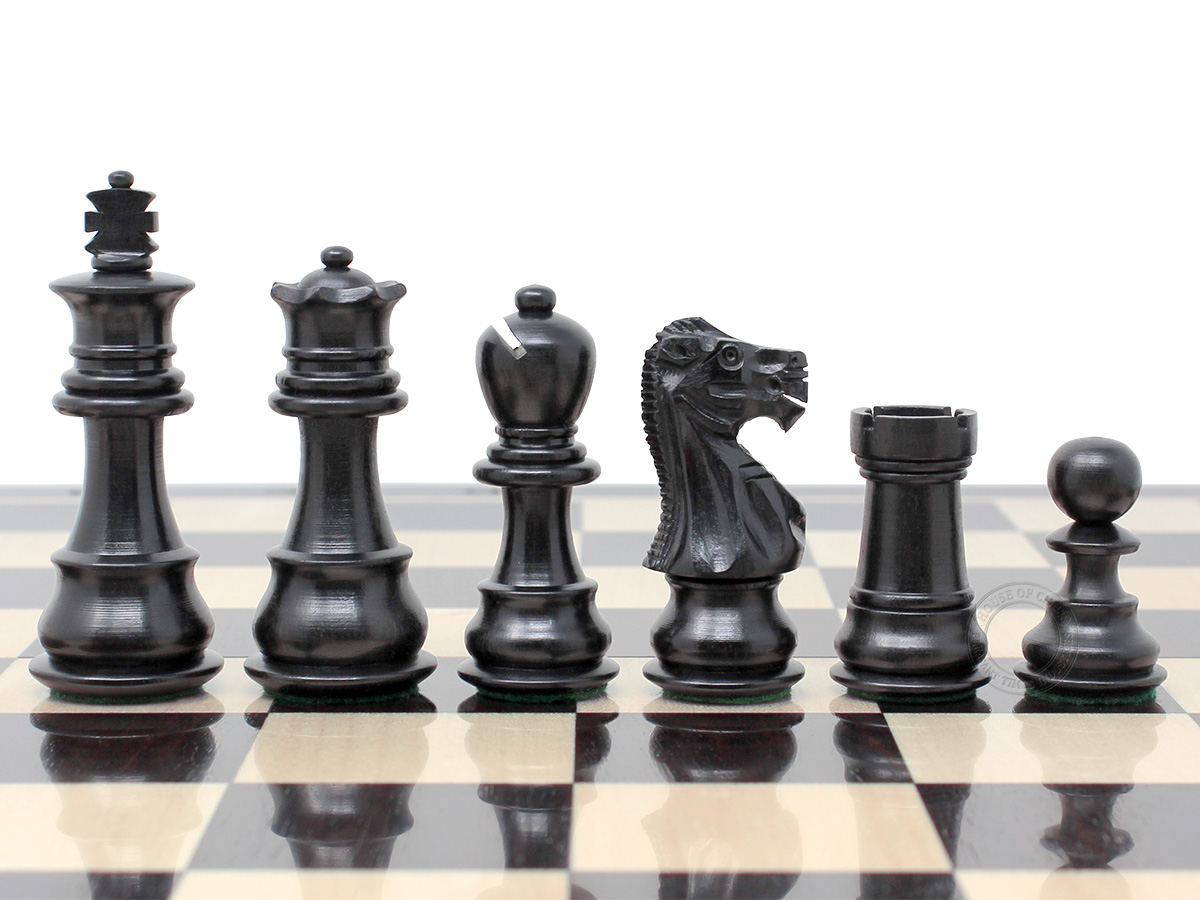 Galaxy Staunton Ebony Wood Chess Pieces