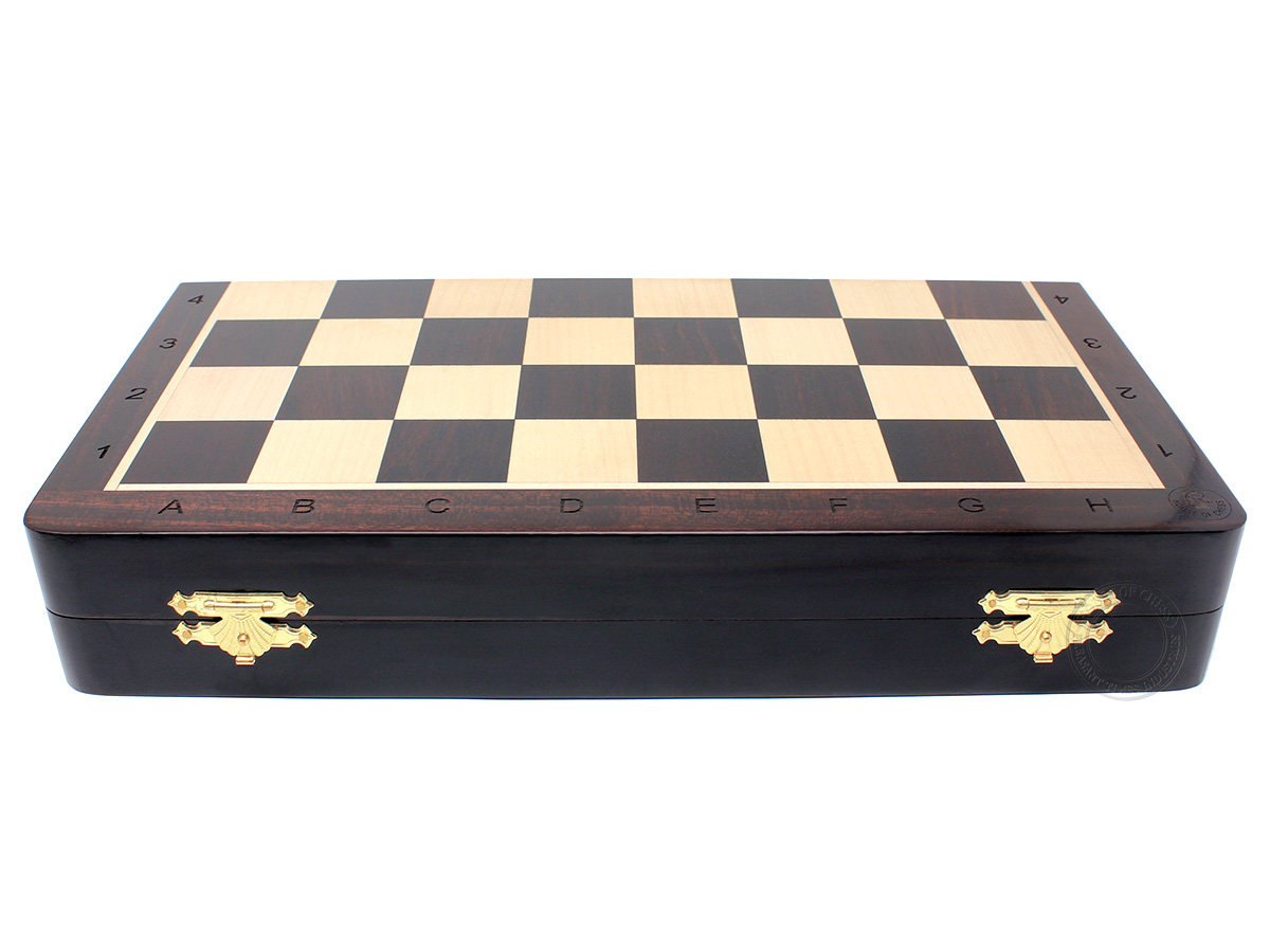 """Ringy Rosewood 14"""" Folding Chess Board"""