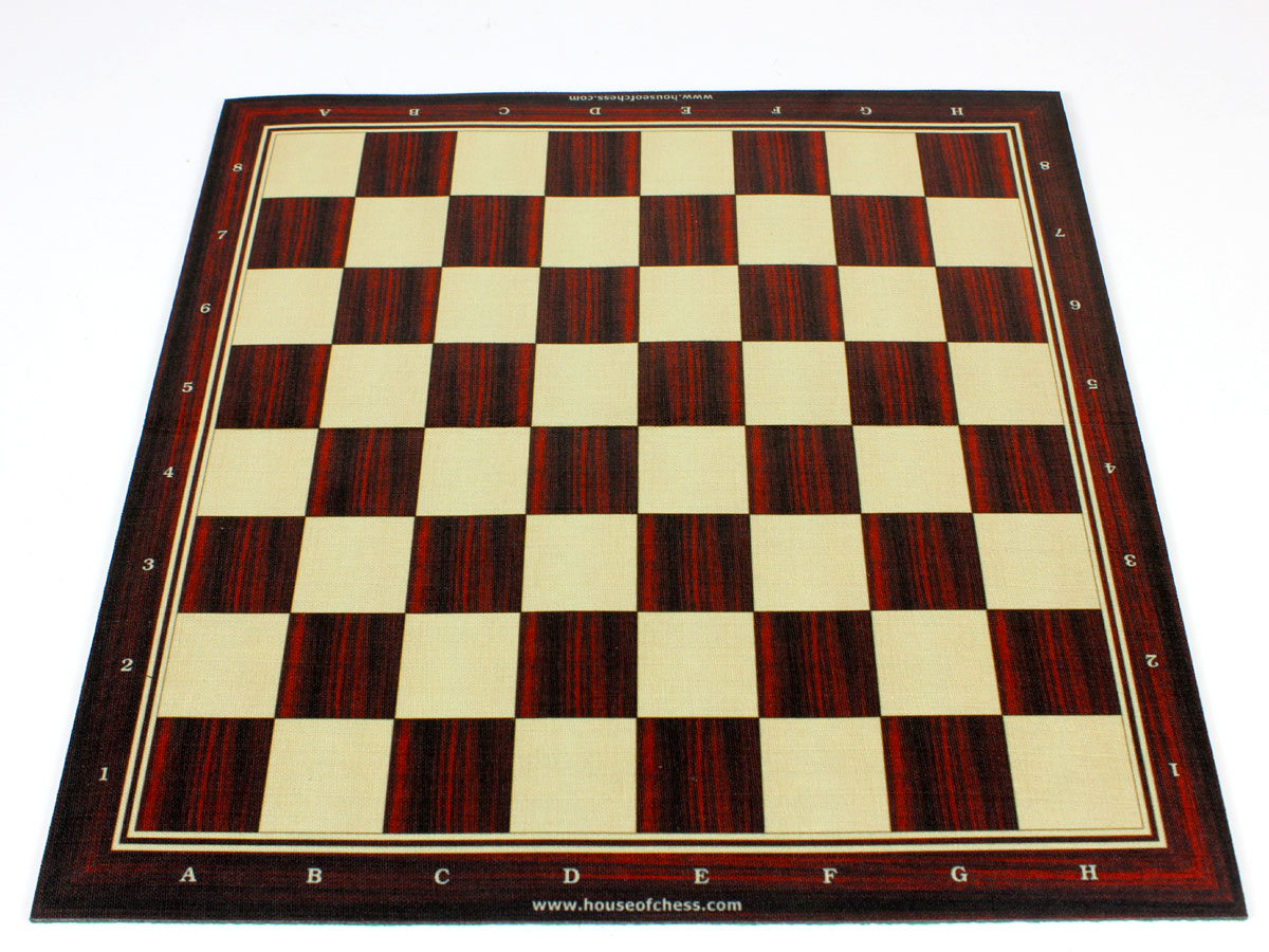 Woodtex Silk/Rayon Rosewood Textured Roll Up Chess Board with super soft plush fleece back