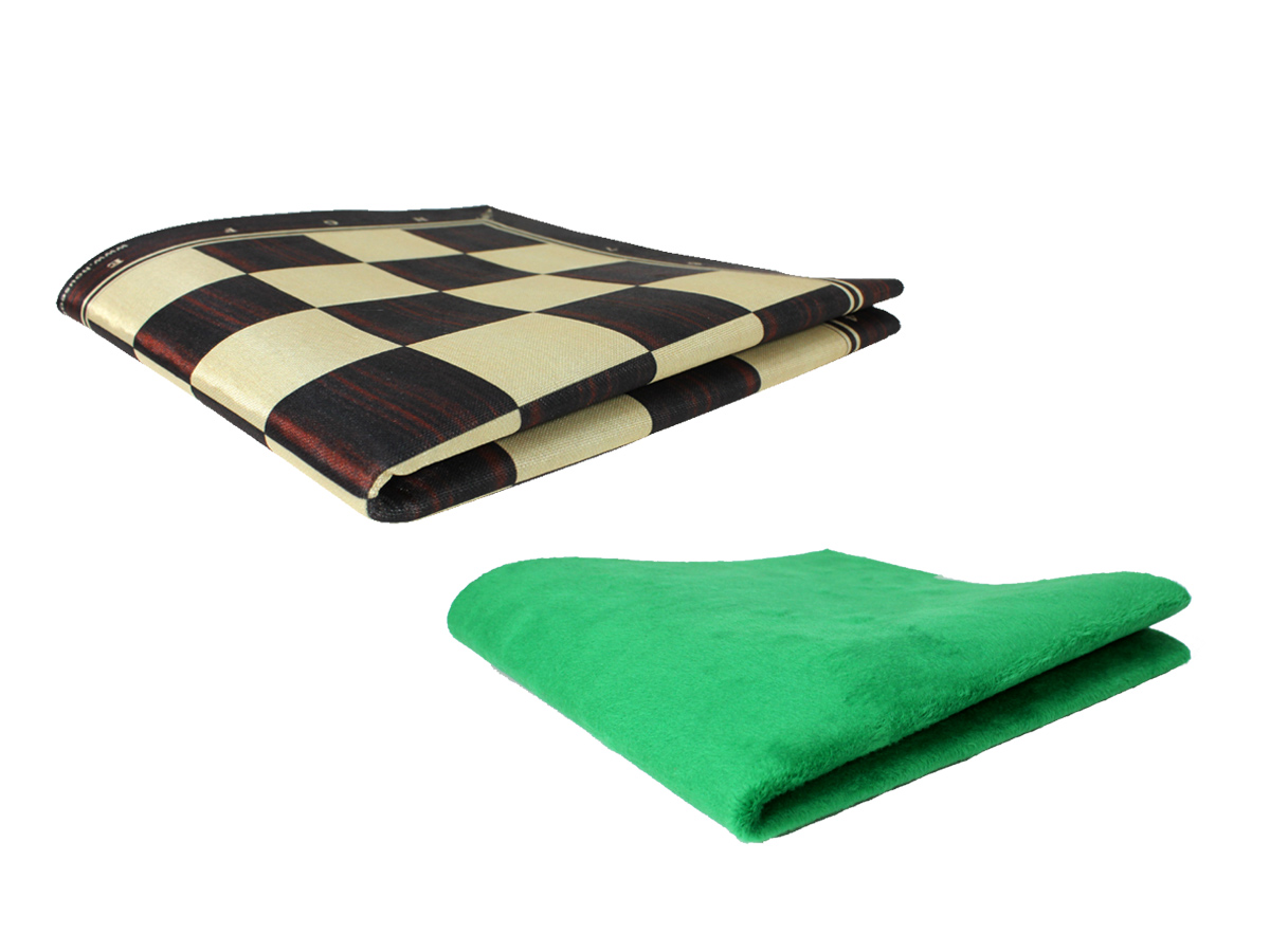 Folded roll up chess board