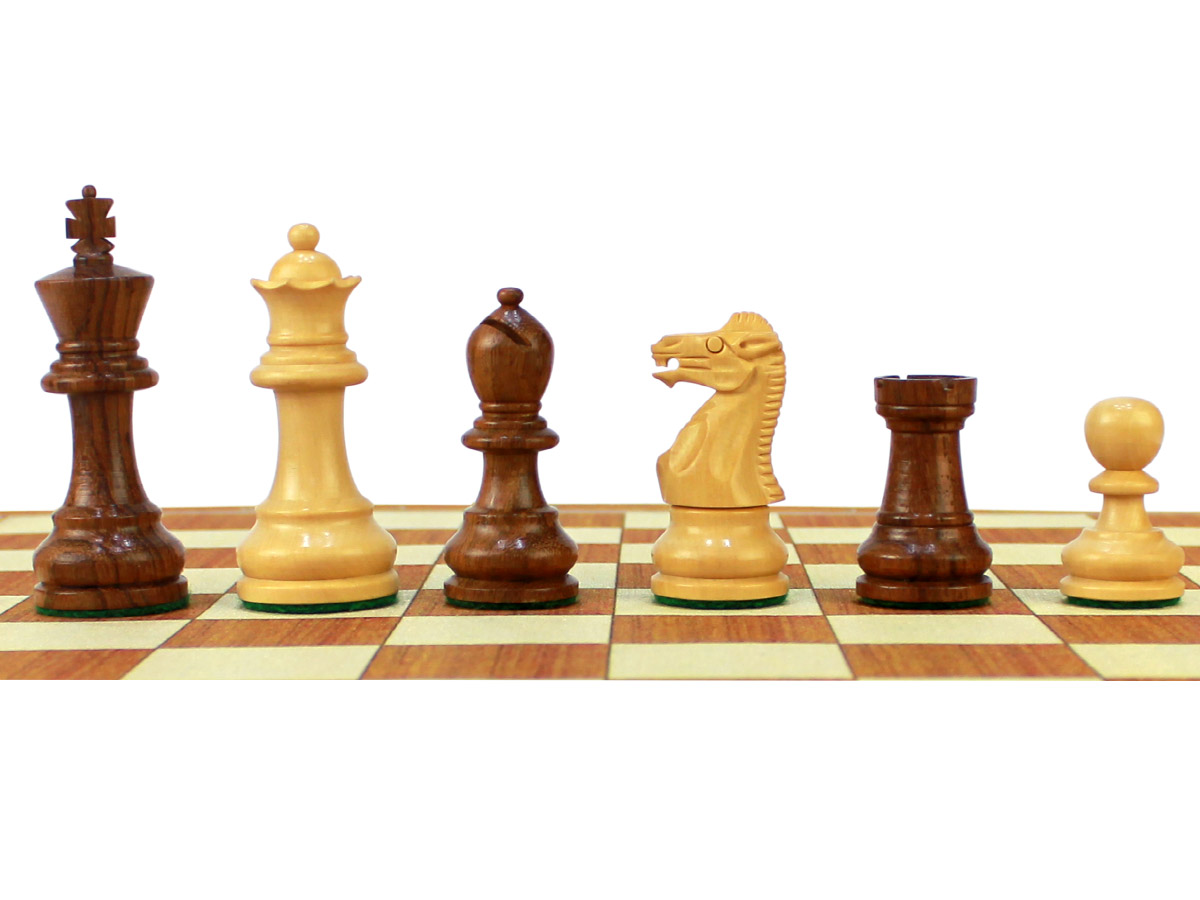 "Monarch Staunton Chess Pieces King Height 2-3/4"""
