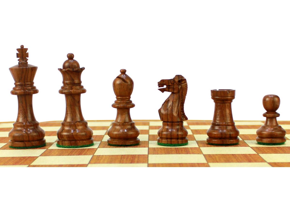 Monarch Staunton Golden Rosewood Chess Pieces