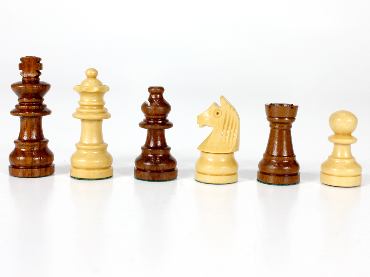Golden Rosewood/Boxwood Magnetic Chess Pieces
