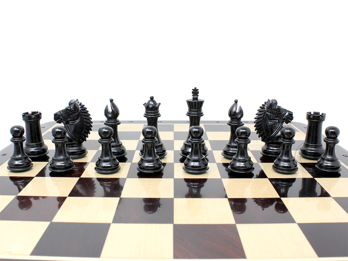 Rio Staunton Ebonized Chess Pieces