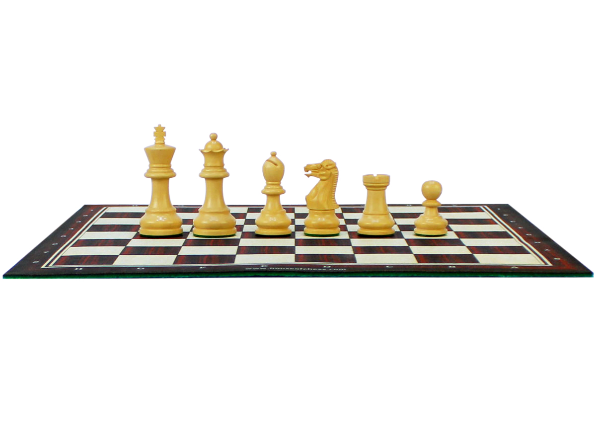 Monarch Staunton Boxwood Chess Pieces