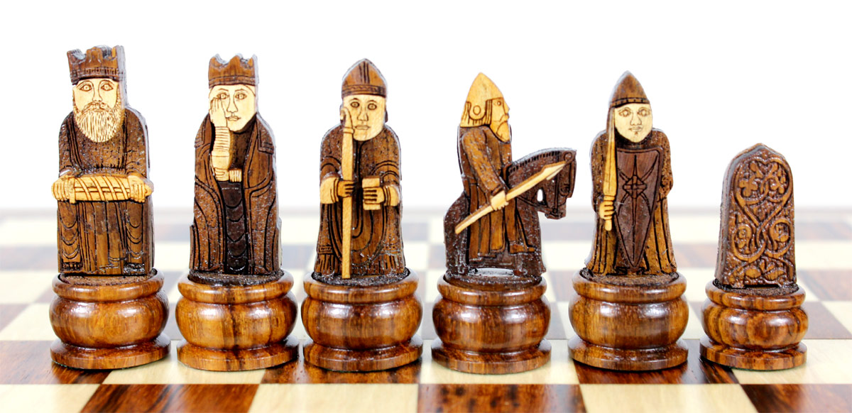 Front View of Dark Side Chess Pieces.