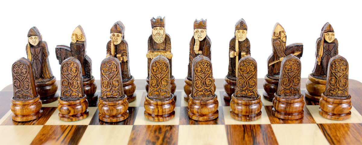 Beautiful Dark Side Chess Pieces Placed on Folding Chess Board