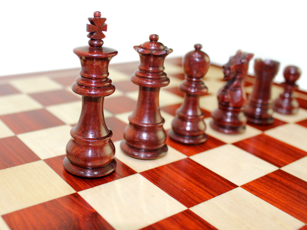 """Bloodwood Chess Pieces King Size 2-3/4"""""""