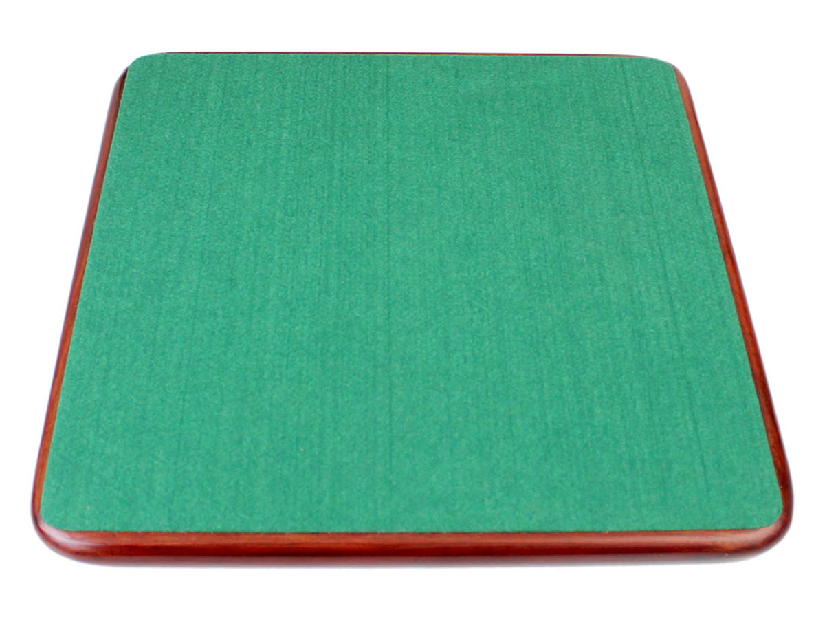 Billiard cloth felt on the back of wooden chess board