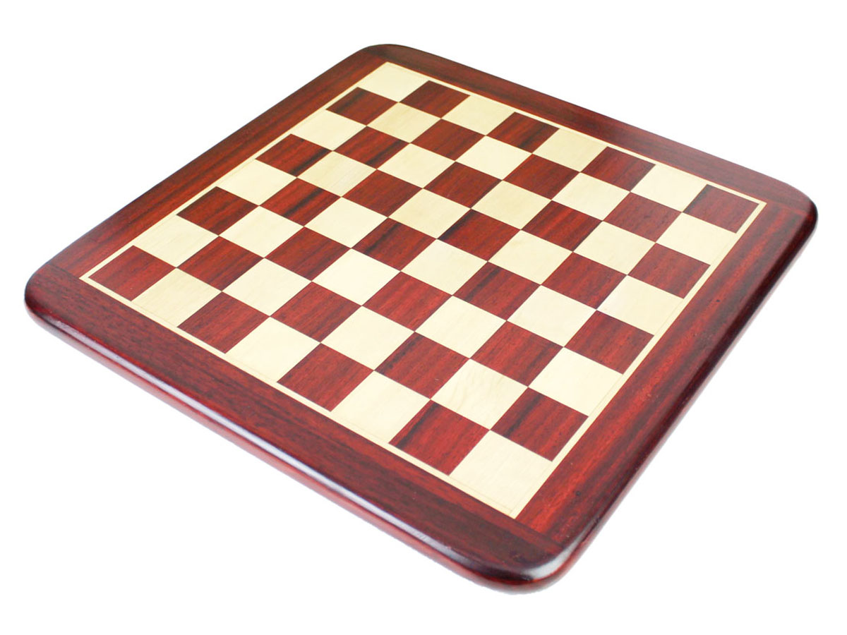 Handcrafted Inlay Work on Bud Rosewood Flat Chess Board