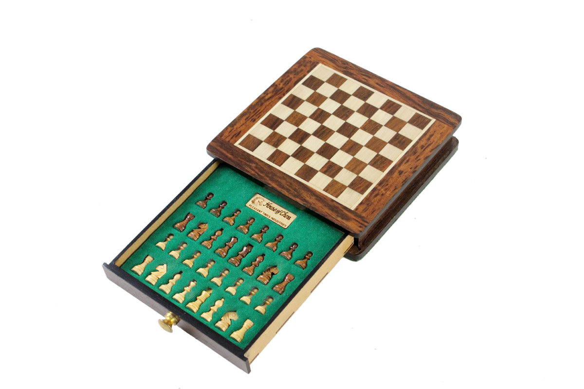 "5"" x 5"" Golden Rosewood Chess board. Square size - 0.5"" (12.7mm)"