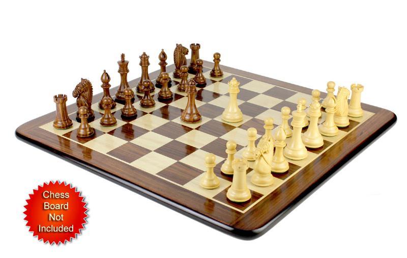 Wooden Chess Set Pieces Golden Rose Wood Rio Staunton 4