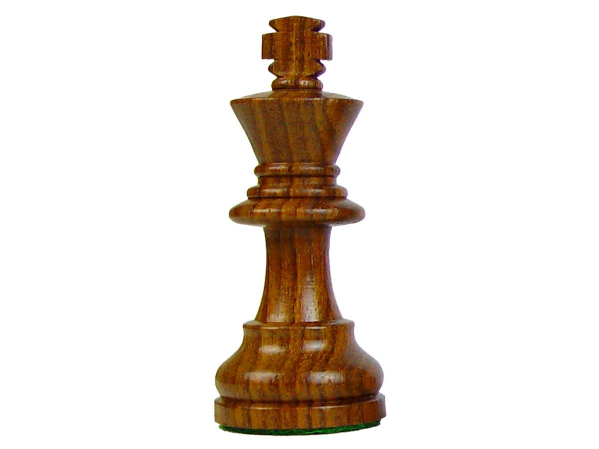 Por Staunton Wooden Chess Pieces King Size 3