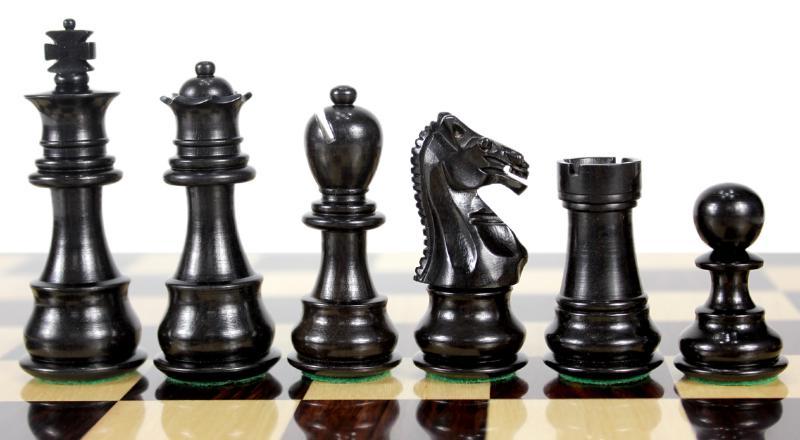 Ebony Wood Galaxy Staunton Wooden Chess Set Pieces King