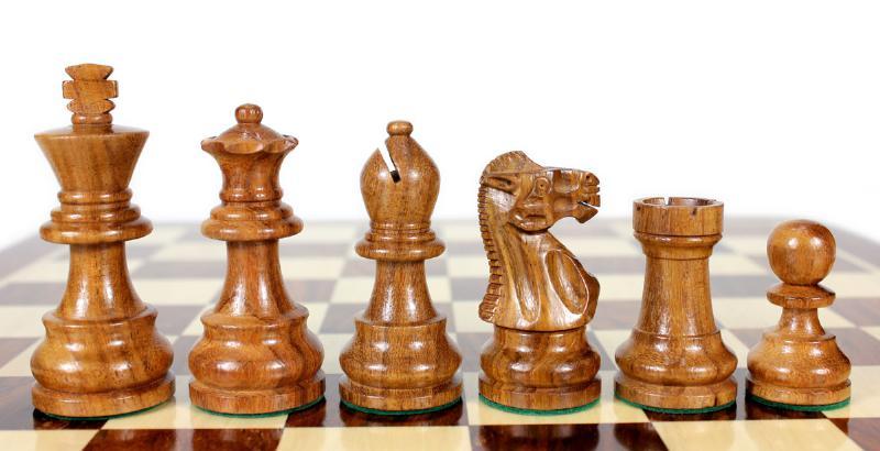 Golden Rose Wood Unique Staunton Wooden Chess Set Pieces