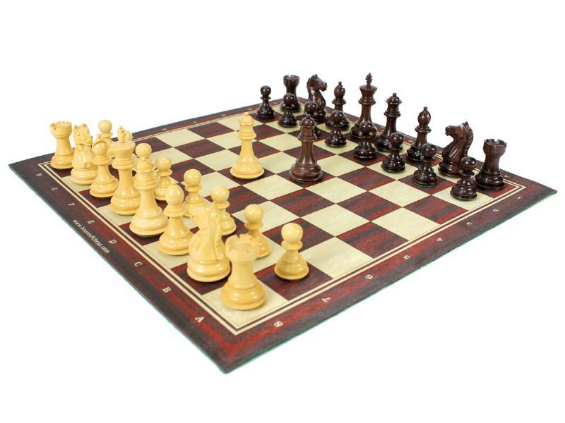 Fierce Knight Staunton Rosewood Chess Set Pieces 3